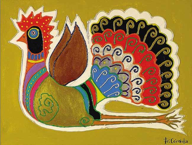Cores fortes e traços marcantes eram características das obras de Fé Córdula