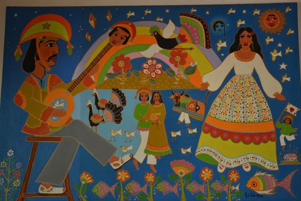 Cenas pitorescas e cotidianas inspiravam a arte de Fé Córdula