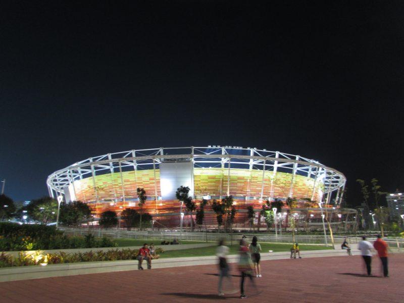 Uma das arenas do Parque Olímpico: promessa de que tudo será reaproveitado.