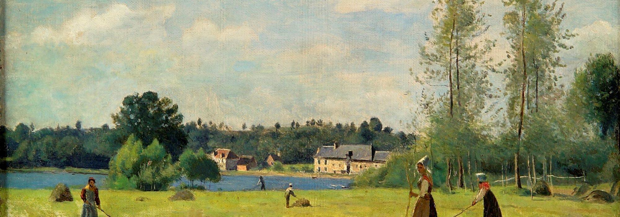 Imagem: Les Faneuses à Ville d'Avray (Corot)
