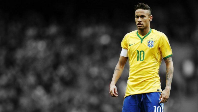 Neymar, o atleta mais festejado, deixando aos outros pouca atenção do público. Foto: Reprodução / YouTube