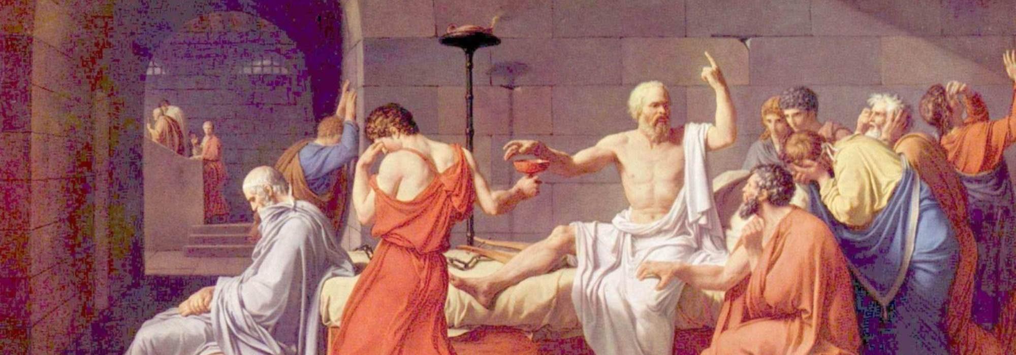 Imagem: A Morte de Sócrates (David)
