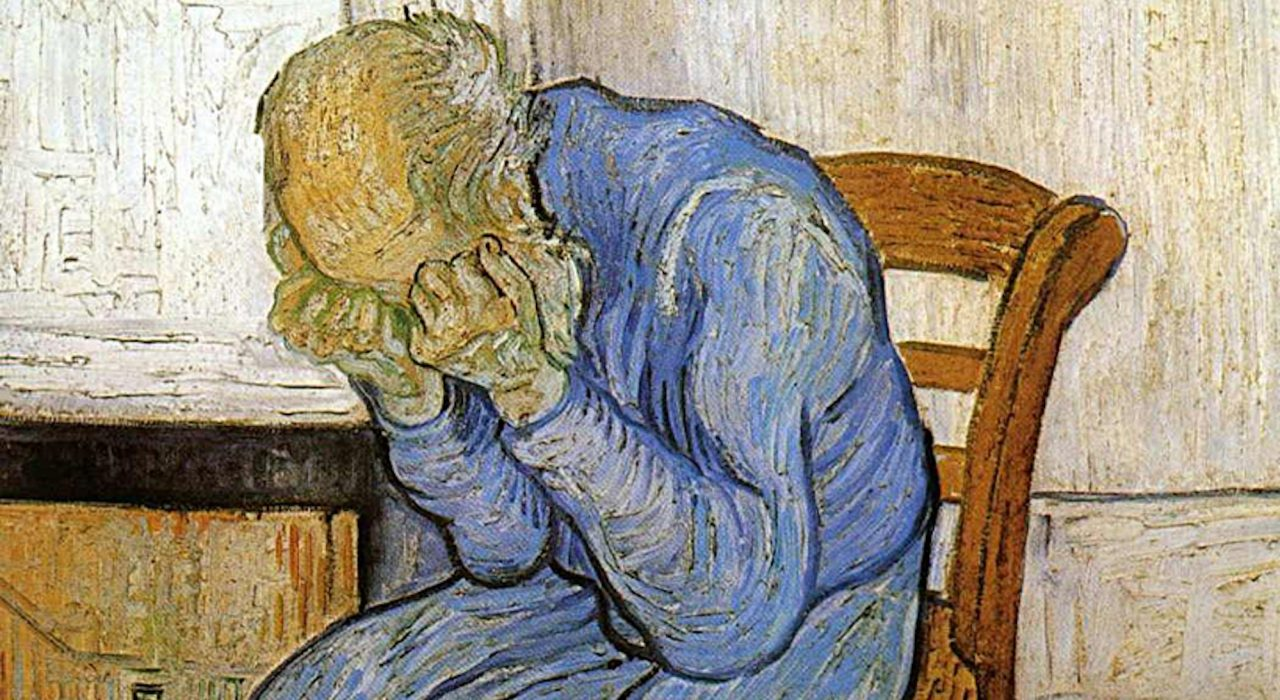 Homem Velho com Cabeça entre as Mãos – Vincent Van Gogh