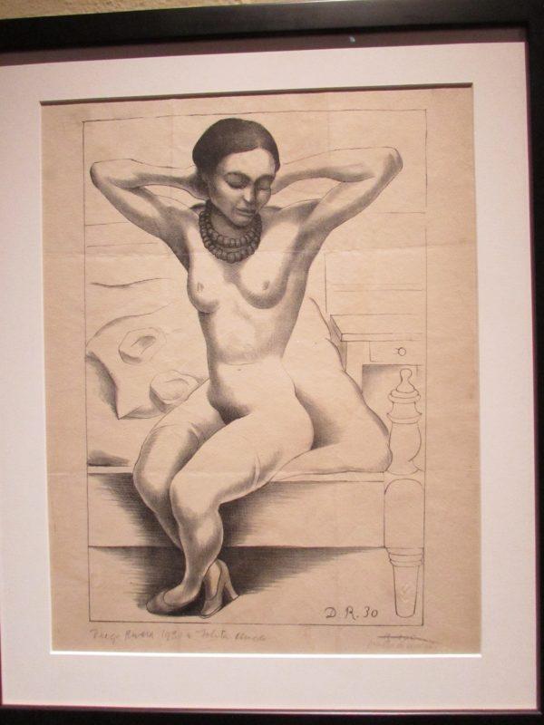 Gravura de Diego Rivera: desenhos sensuais