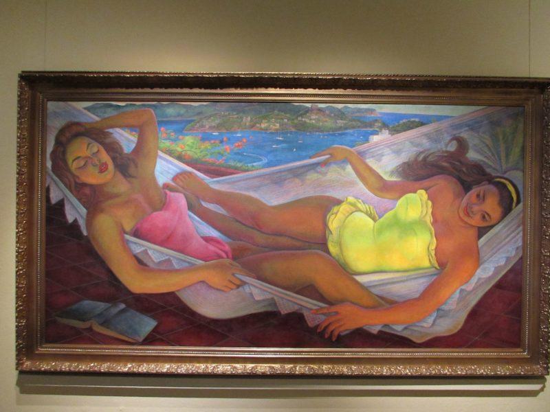 Tela de Diego Rivera no Museu Dolores Olmedo: a beleza feminina em cores vivas