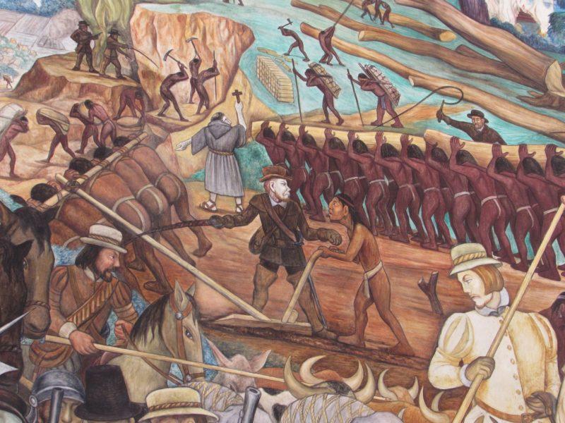 Mural de Diego Rivera no Palácio Nacional, na Cidade do México: patrimônio artístico e engajado