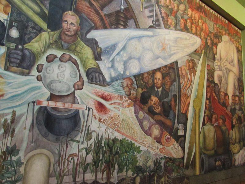 Mural ... no Museu de Bellas Artes: mensagem política