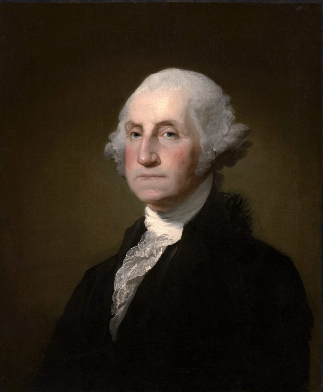 Retrato de George Washington: tela de Gilbert Stuart
