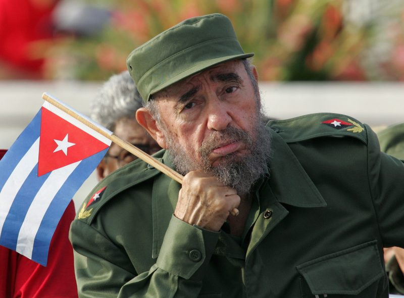 Cuban President Fidel Castro listens to a speaker during the May Day parade in Havana's Revolution Square in this May 1, 2005 file photo. Ailing Cuban leader Fidel Castro said on February 19, 2008 that he will not return to lead the country, retiring as head of state 49 years after he seized power in an armed revolution. REUTERS/Claudia Daut/Files (CUBA)