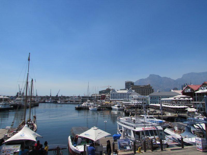 Região de Waterfront, o porto da Cidade do Cabo: atração turística e charme. / Foto: Rogério Borges