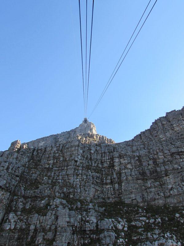 O bondinho que leva ao topo da montanha: visão panorâmica. / Foto: Rogério Borges