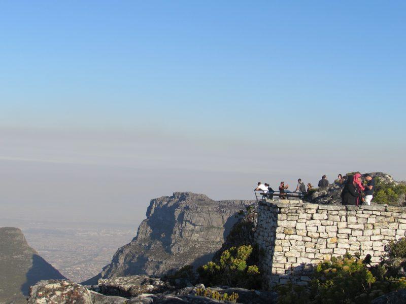 No alto da Table Mountain, uma visão privilegiada de Cape Town. / Foto: Rogério Borges