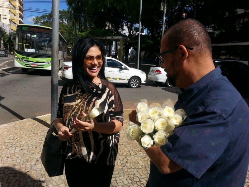 A auxiliar de dentista Josiene da Penha: grata surpresa no centro de Goiânia