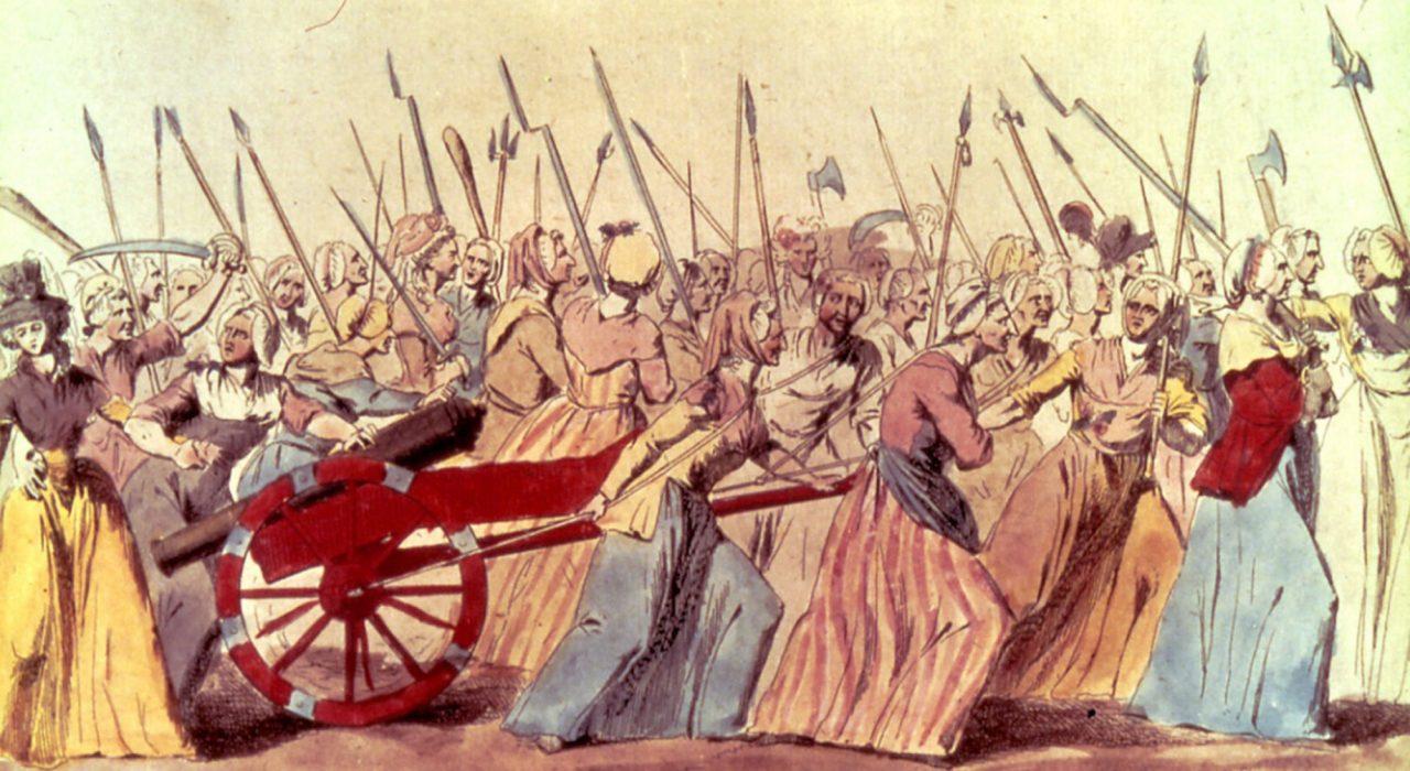 Imagem: Marcha das Mulheres a Versalhes (1789)