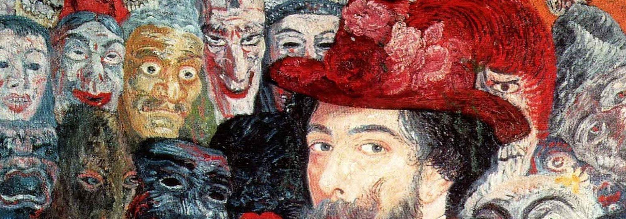 Autorretrato com Máscaras - James Ensor