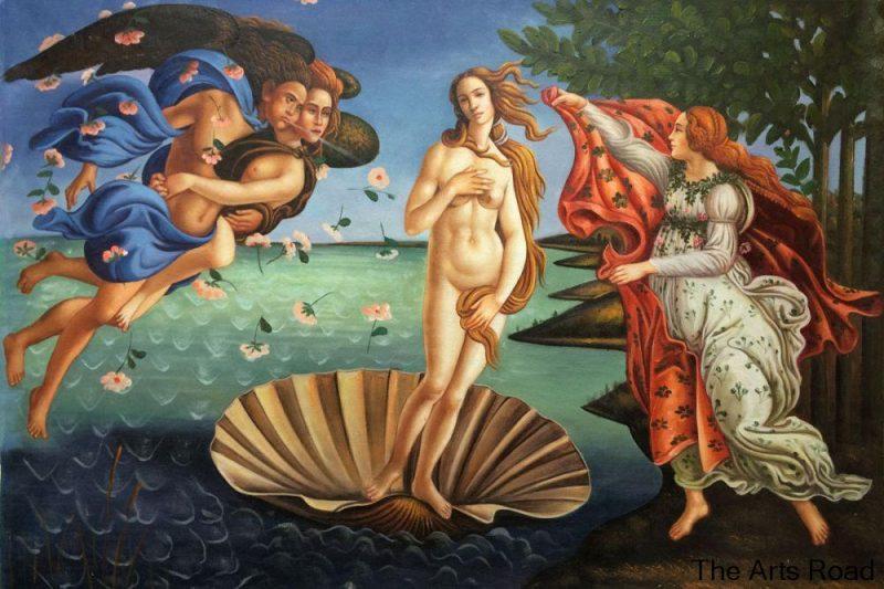 O Nascimento de Vênus, de Boticelli: um clássico da pintura e o nu feminino.