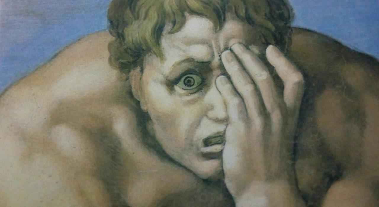 Imagem: Juízo Final, de Michelangelo (detalhe)
