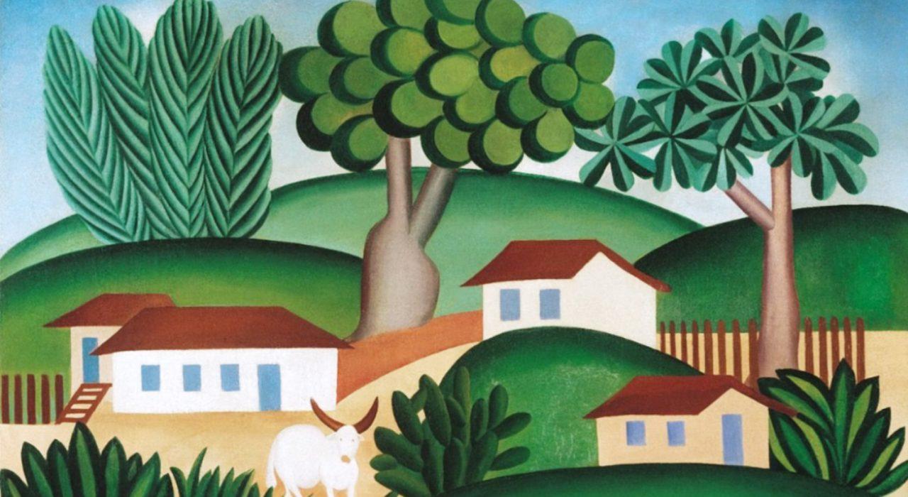 Imagem: Paisagem com Touro (Tarsila do Amaral, 1925)