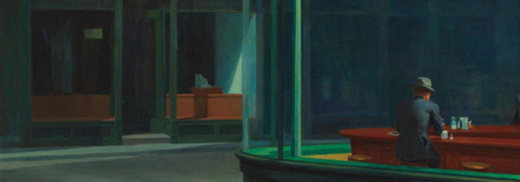Imagem: Nighthawks (Edward Hopper, detalhe)
