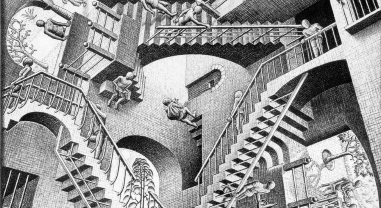 Imagem: Relatividade (Escher, 1953)