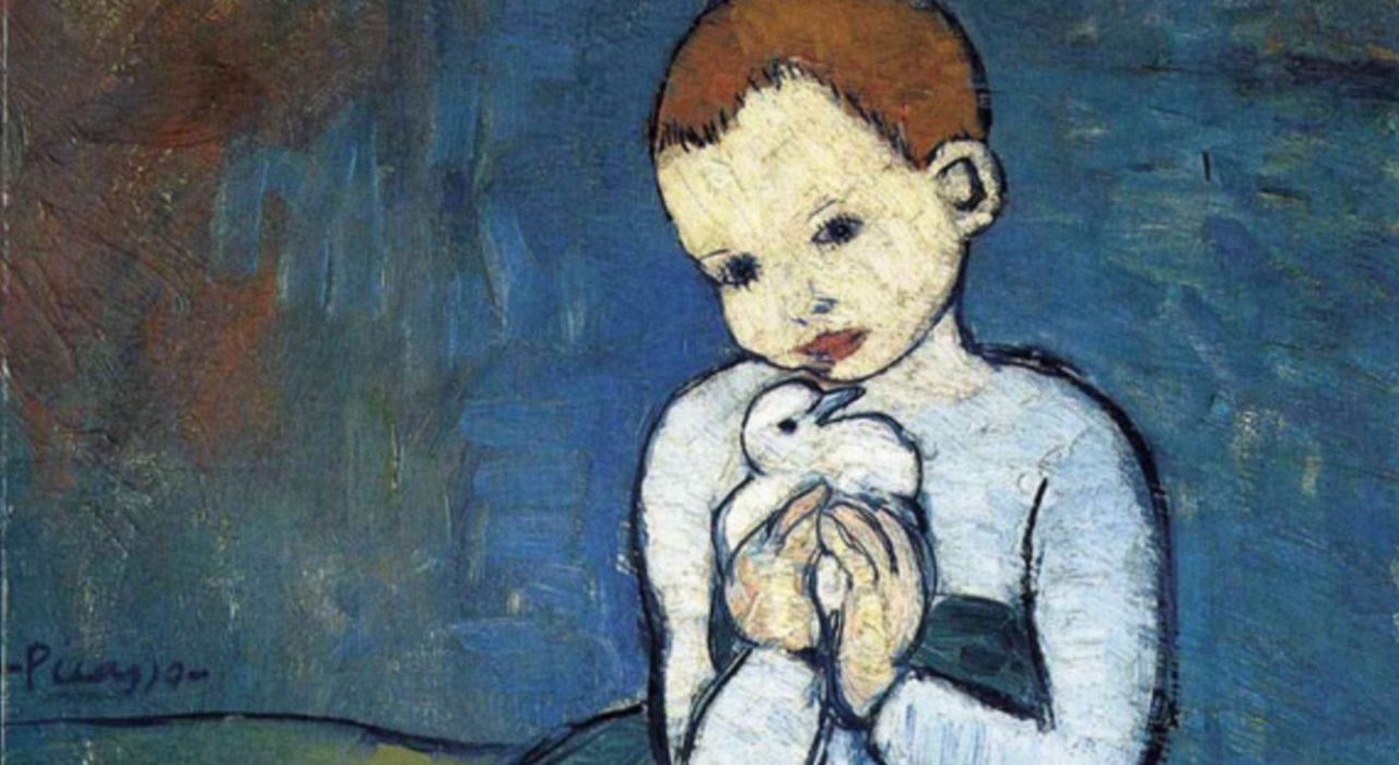 Imagem: Criança com Pomba (Picasso, detalhe)