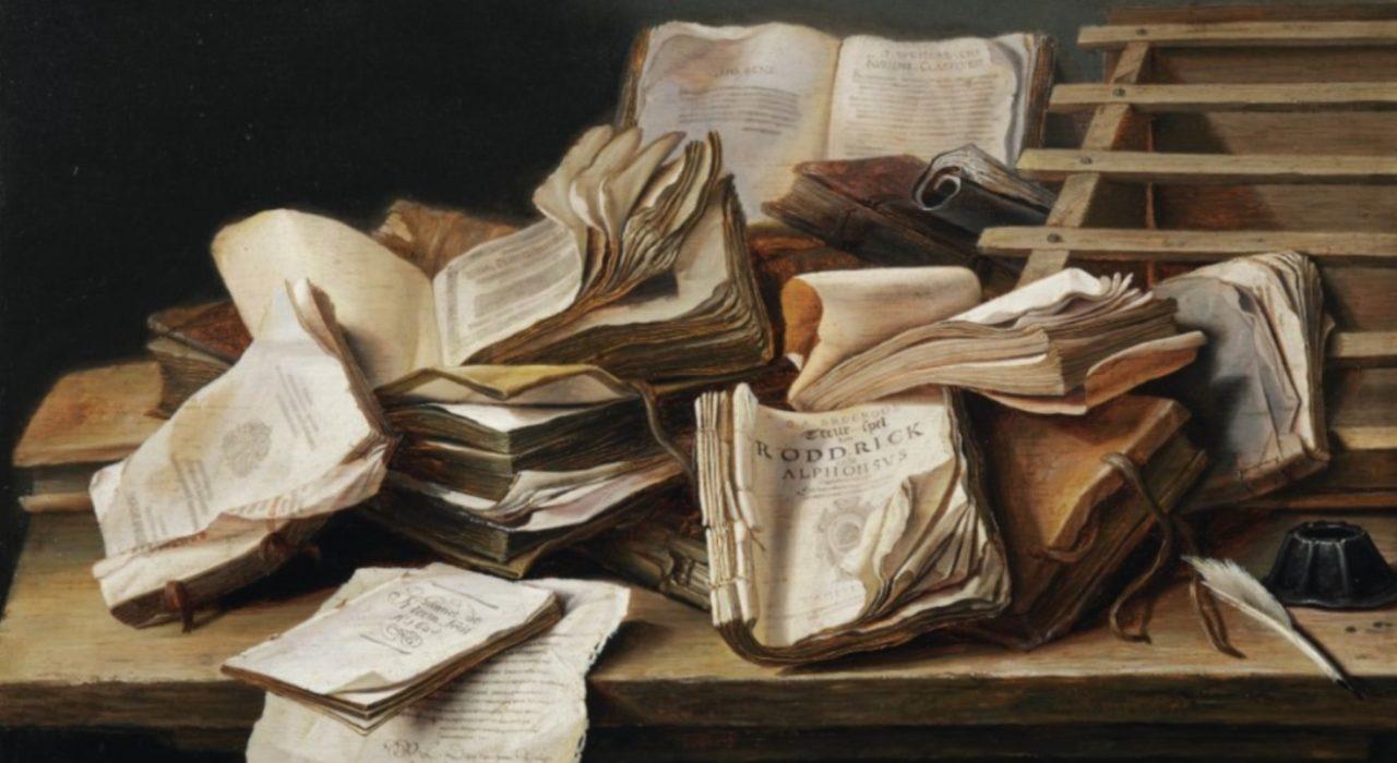 Imagem: Natureza-morta com Livros (De Heem)