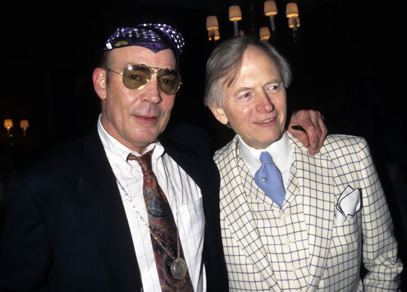 Tom Wolfe com Hunter Thompson: representantes do Jornalismo Gonzo / Foto: site de Tom Wolfe