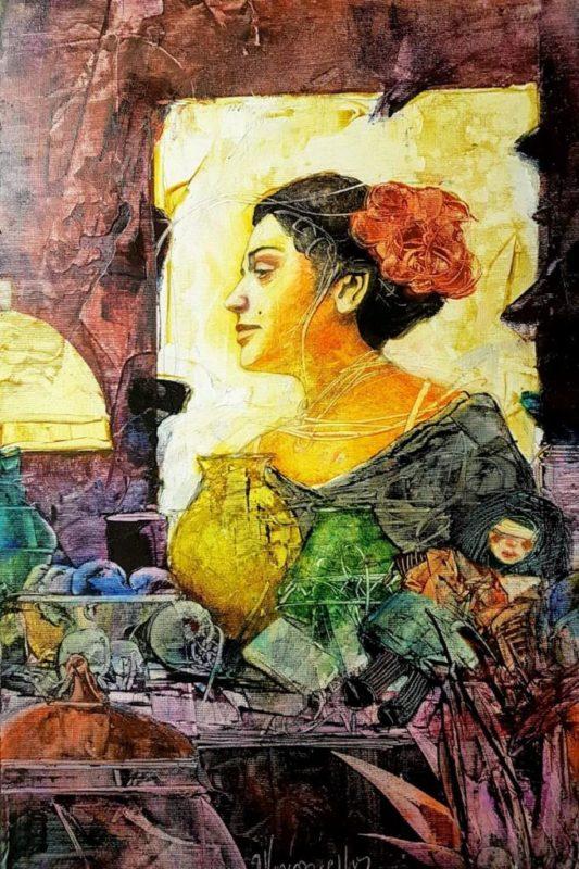 Andalucia, da série Musas: a imagem mulher é central na obra do artista. Foto: Divulgação
