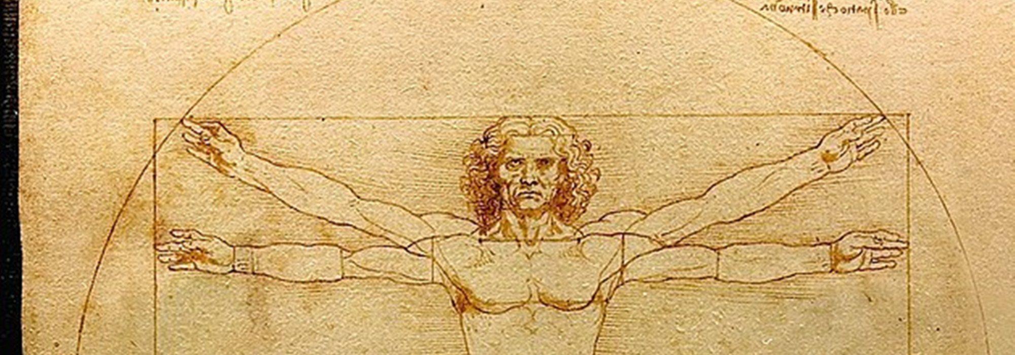 Imagem: O Homem Vitruviano (Da Vinci, detalhe)