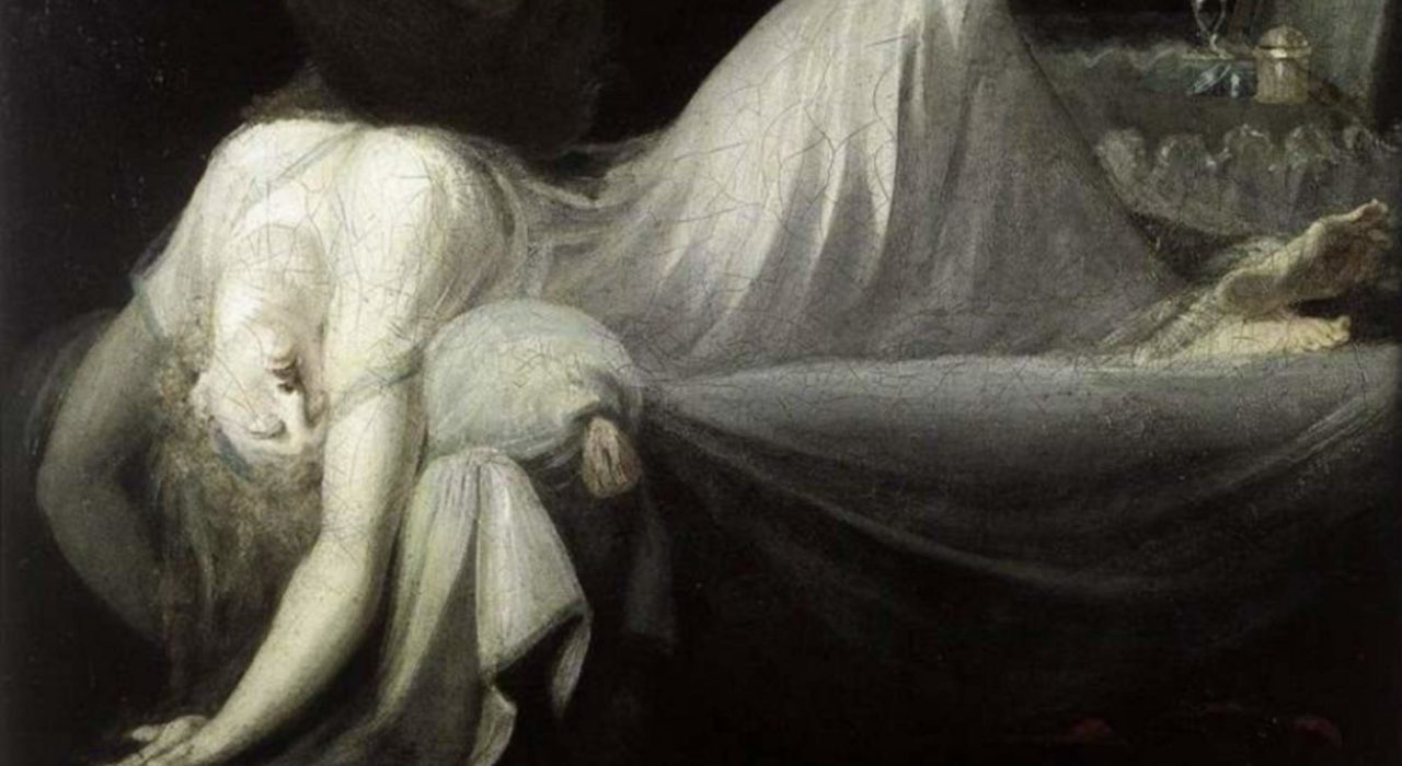 Imagem: O Pesadelo, de Henry Fuseli (1790, detalhe)