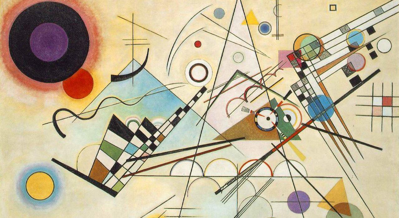 Imagem: Composição 8, de Kandinsky (1923, detalhe)