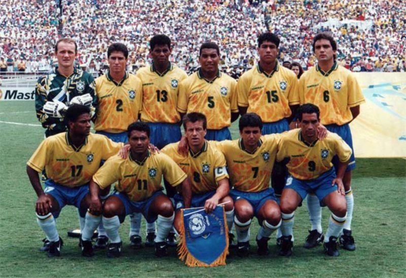 Seleção Brasileira tetracampeã em 1994: alento para a torcida após a tragédia. / Imagem: CBF