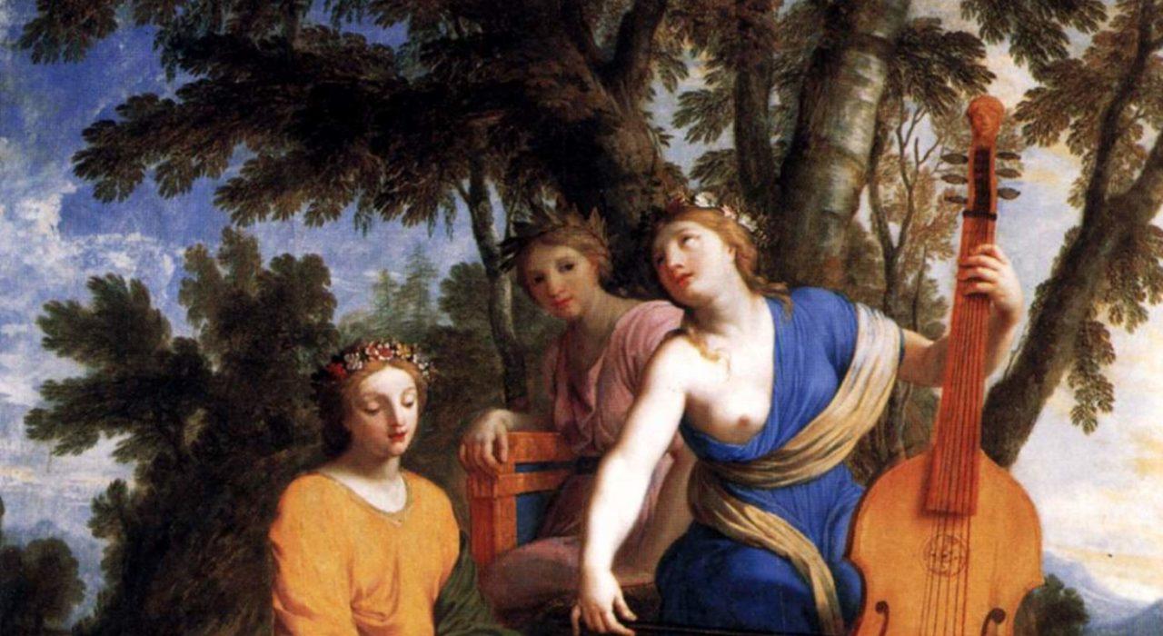 Imagem: As musas Melpomene, Erato e Polimnia (Eustache Le Suer, 1655)