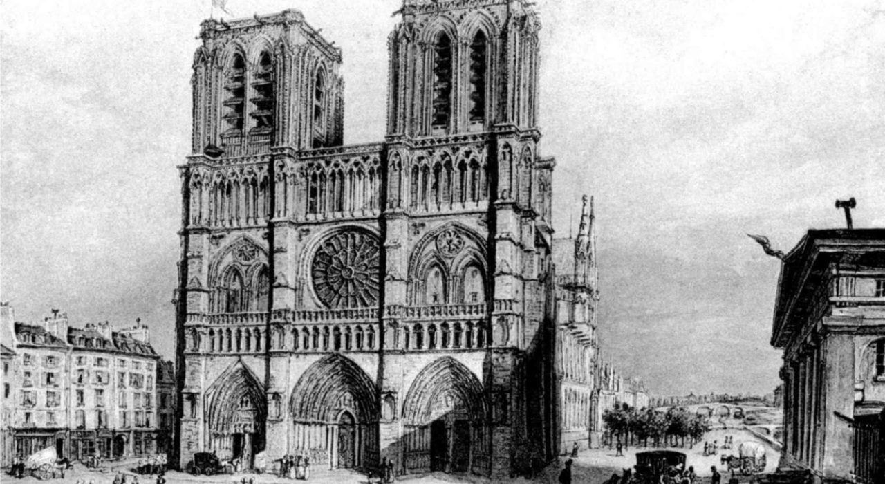 Imagem: Notre-Dame de Paris (gravura de 1840)