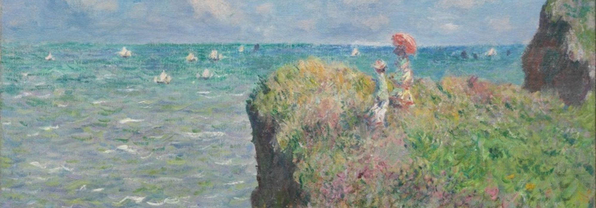 Imagem: Falésias de Pourville (Claude Monet, 1882)