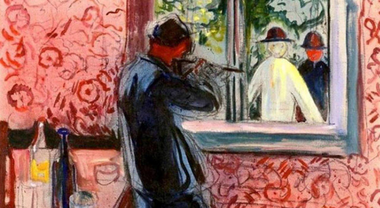 Imagem: Convidados não Convidados (Edvard Munch, detalhe, 1932)