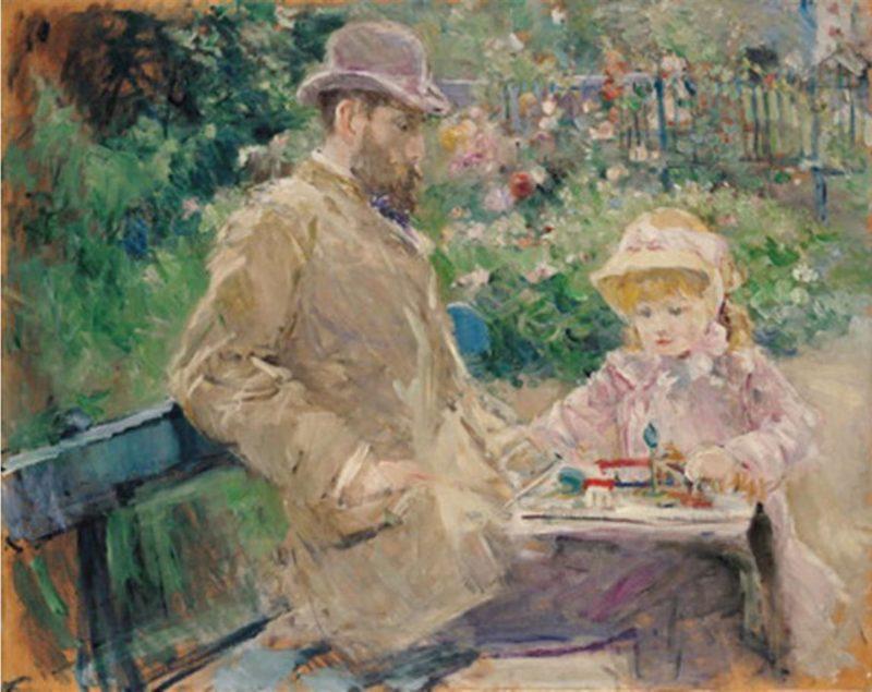 Eugène Manet et sa Fille: tela de Berthe Morisot