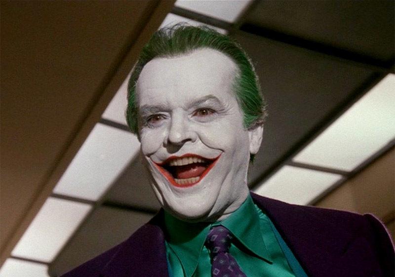 Jack Nicholson como Coringa em Batman, de Tim Burton