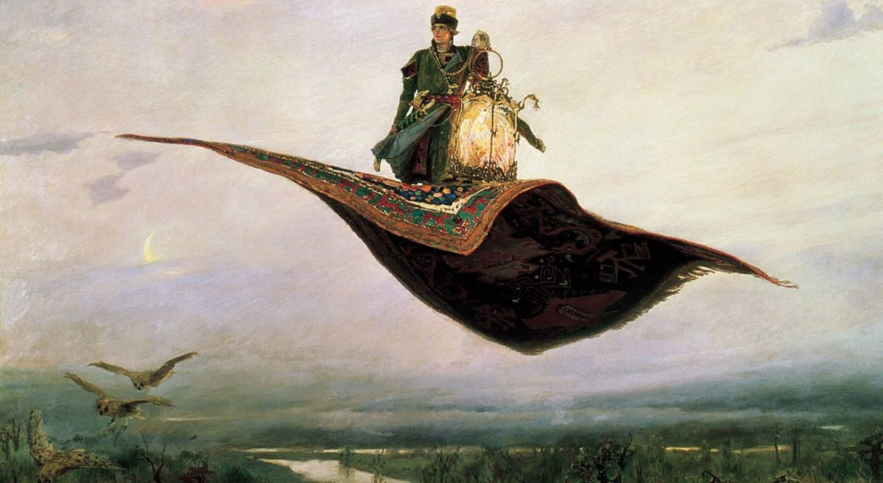 Imagem: Tapete Voador (Viktor Vasnetsov, 1880)