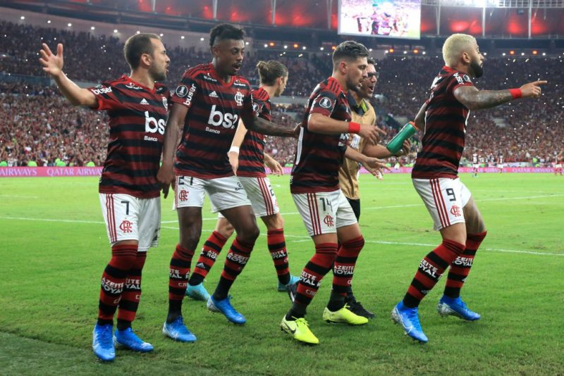 Time vencedor do Flamengo: alegria rara nos dias de hoje. / Foto: Conmebol