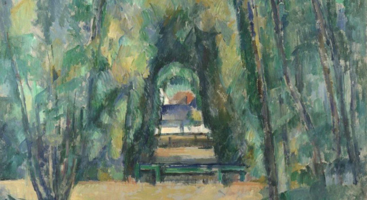 Imagem: Allée à Chantilly (Cézanne, 1888, detalhe)
