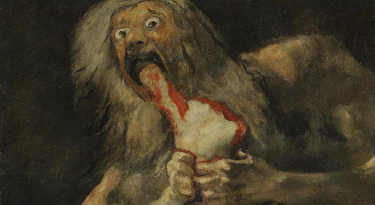Imagem: Saturno Devorando seu Filho (Goya, 1823,detalhe)