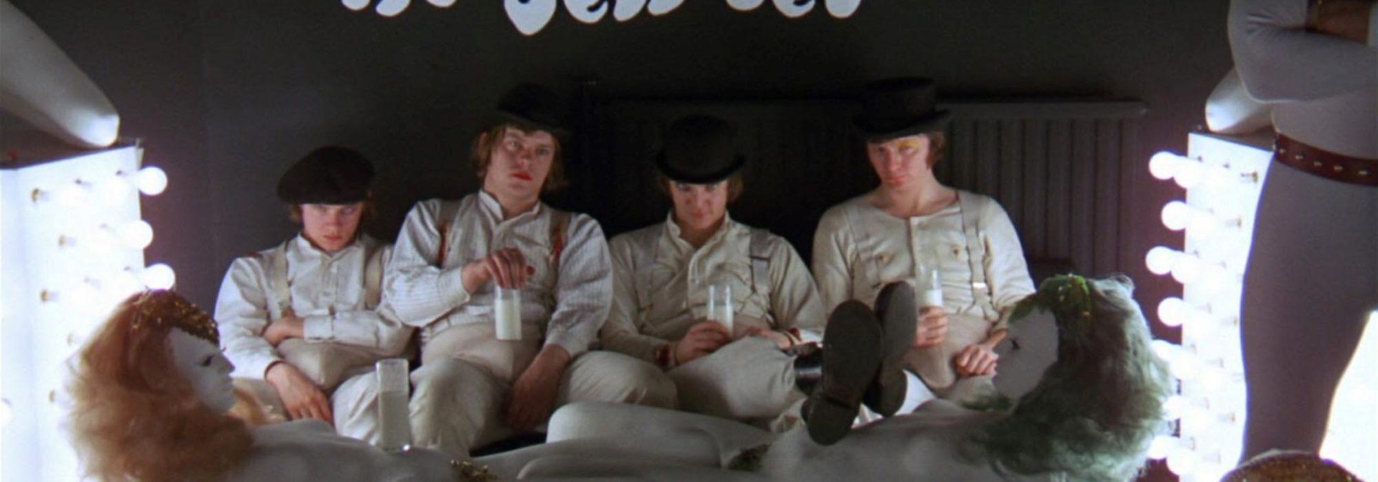 Imagem: cena do filme Laranja Mecânica, de Stanley Kubrick