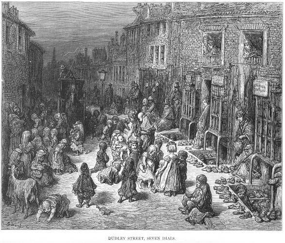 Os bairros pobres da Londres do século XIX na visão de Gustave Doré