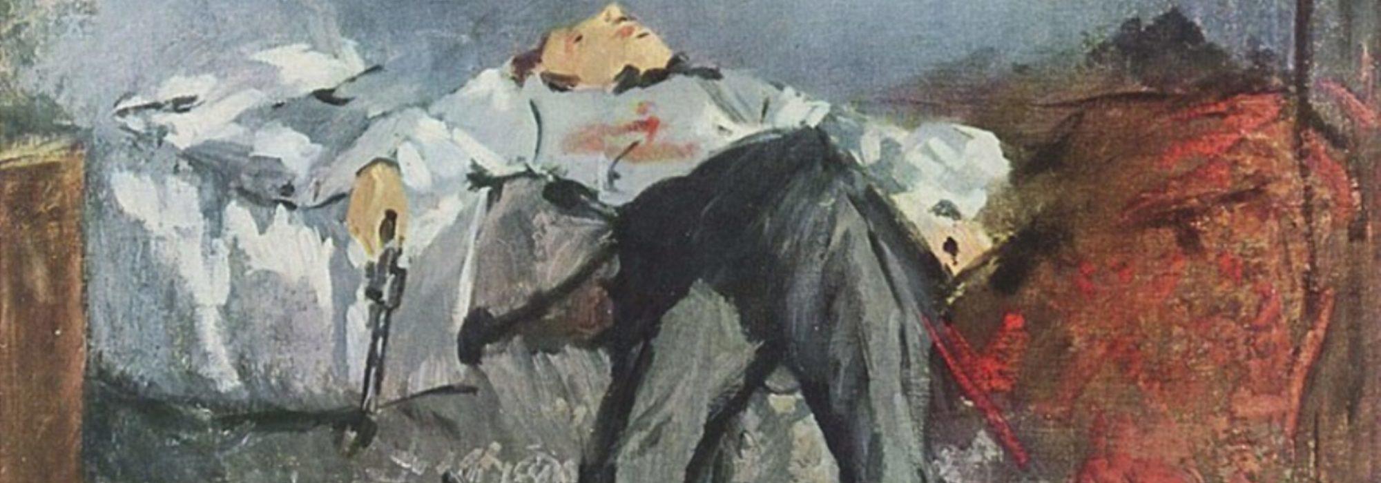 Imagem: O Suicida (Manet, 1881, detalhe)