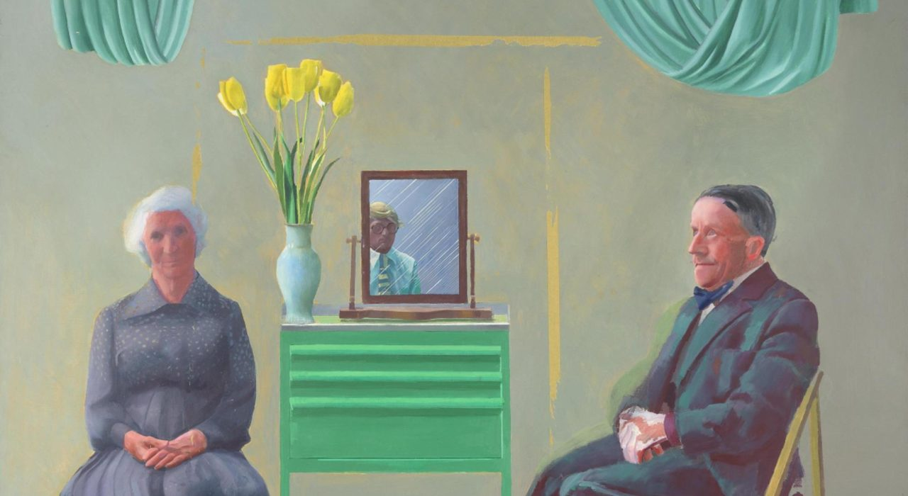 Imagem: My parentes and myself (David Hockney, 1977, detalhe)