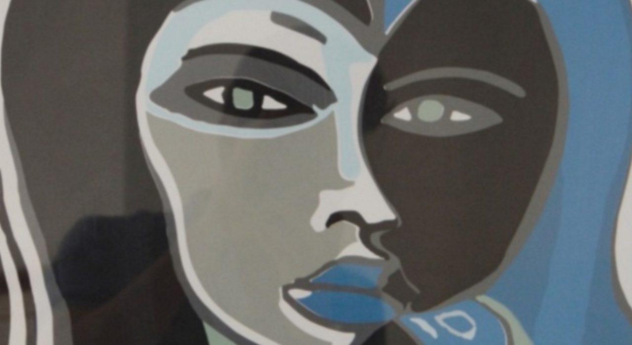 Imagem: Mulher e Pássaro (Di Cavalcanti, 1973, detalhe)