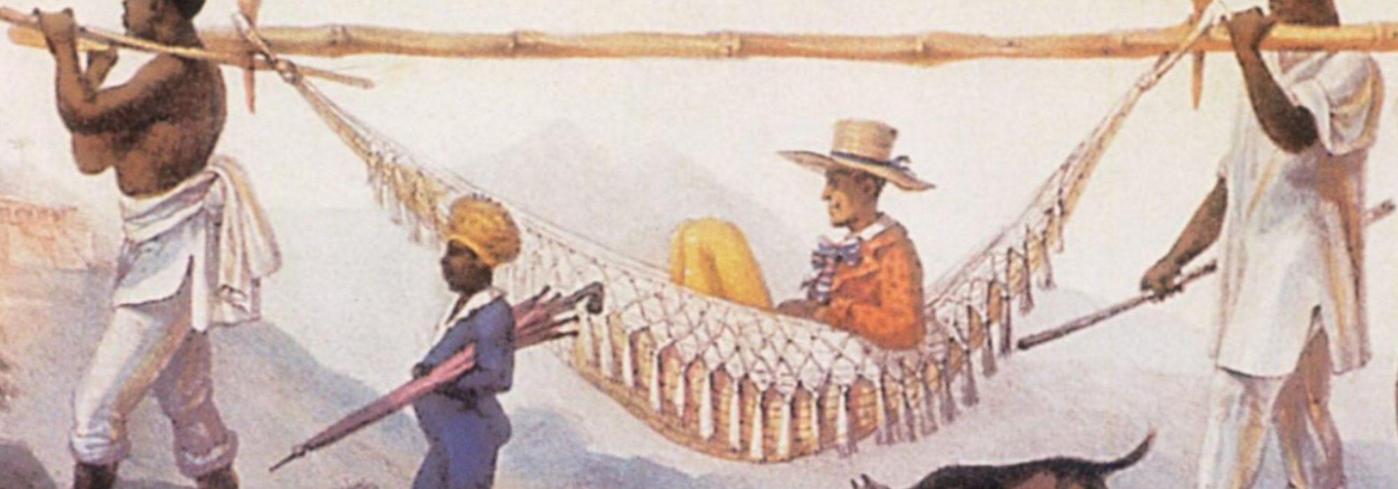 Imagem: Regresso de um proprietário (Debret, 1816, detalhe)