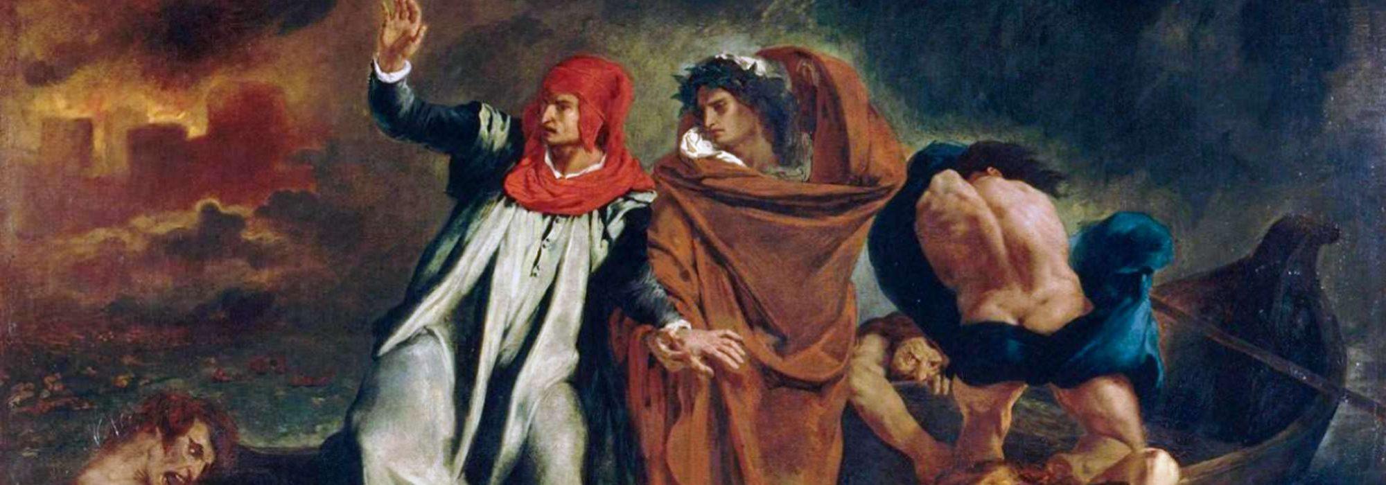 Imagem: A Barca de Dante (Eugène Delacroix, 1822, detalhe)