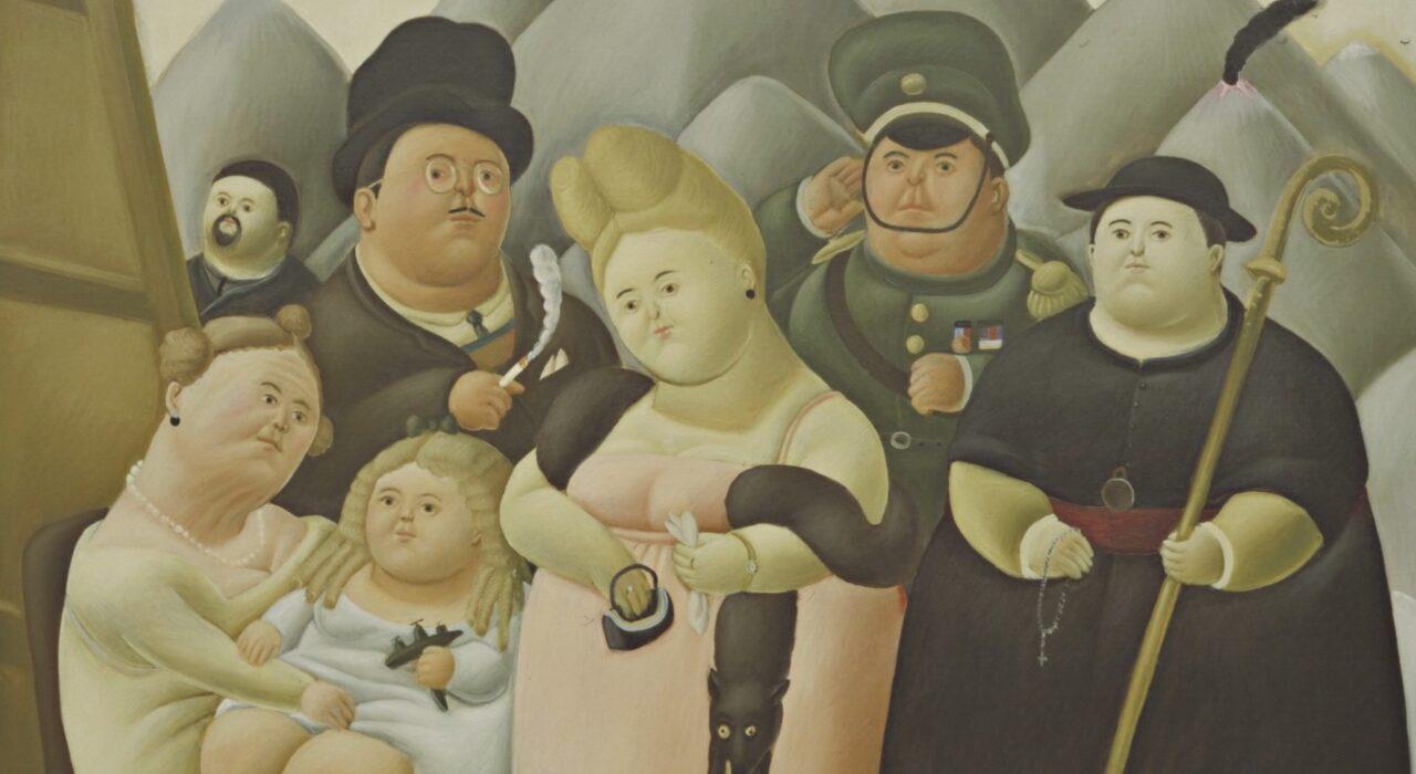 Imagem: A Família Presidencial (Fernando Botero, 1967, detalhe)